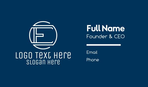 creative agency - Modern Letter E  Business card horizontal design