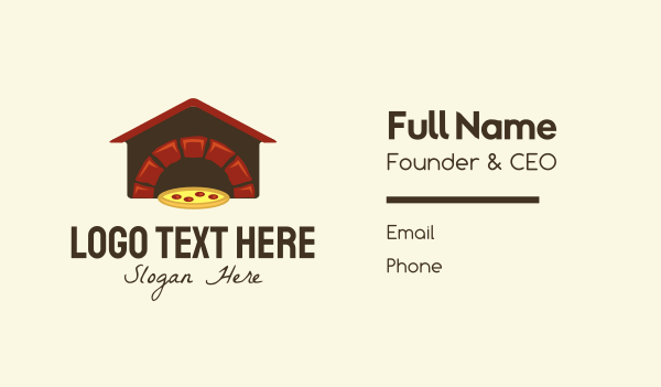 eatery - Pizza Oven Business card horizontal design