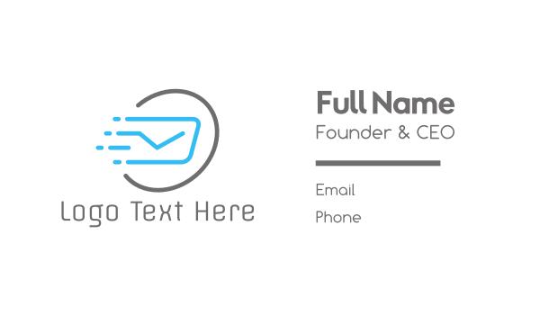 swift - Fast Post Business card horizontal design