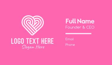 Pink Heart Pattern Business Card
