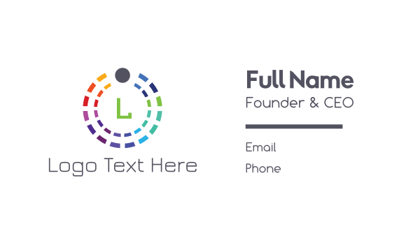 rainbow - Colorful Circle Business card horizontal design