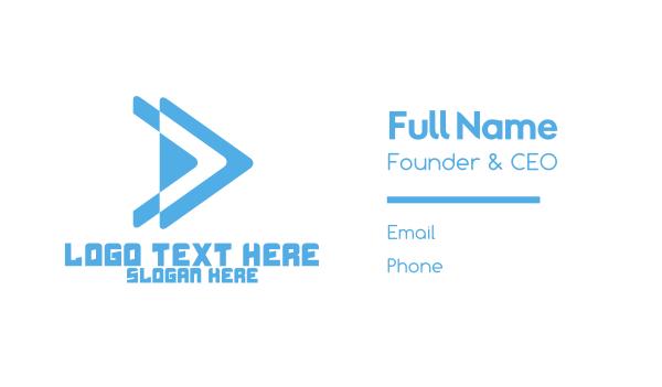 saas - Forward Arrow Business card horizontal design