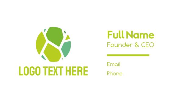 floor - Green Tiles Business card horizontal design