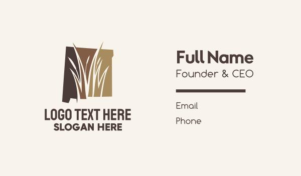 swamp - New Mexico Marsh Map Business card horizontal design