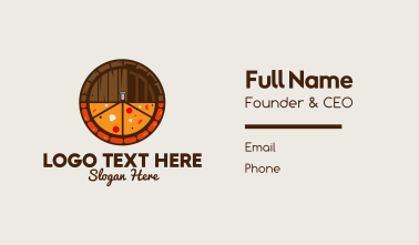 Beer & Pizza Business Card