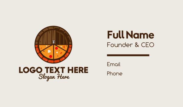 barrel - Beer & Pizza Business card horizontal design