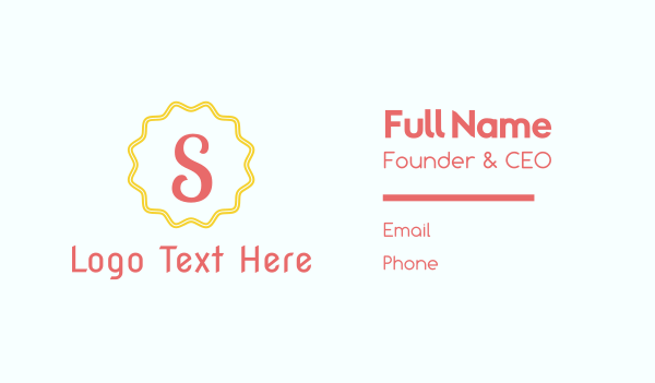 friendly - Letter S Stamp Business card horizontal design