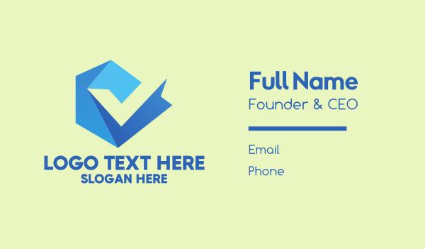 it company - Blue Professional Letter V  Business card horizontal design