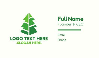 Modern Christmas Tree Business Card