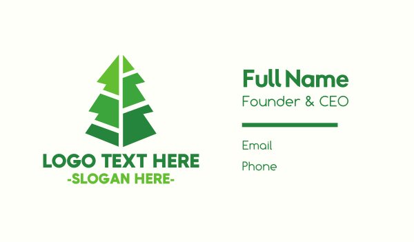 primitive - Modern Christmas Tree Business card horizontal design