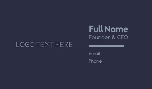 design agency - Minimal Design Studio Wordmark Business card horizontal design
