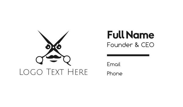 beard - Scissors Face Business card horizontal design
