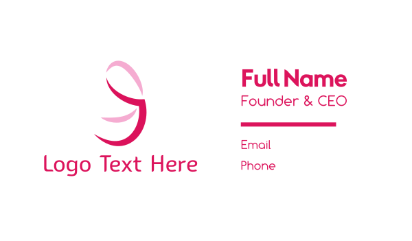 cancer - Pink Ribbon Business card horizontal design