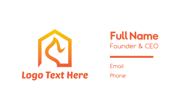 Abstract Orange House Roof Business Card