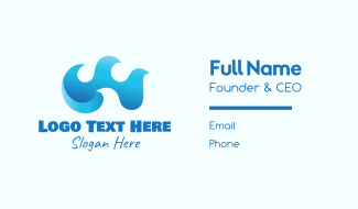 Blue Tidal Waves Business Card