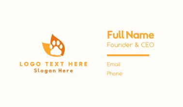 Animal Paw Business Card