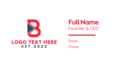 Red B Play Business Card