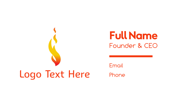 candle - Orange Flame Fire Business card horizontal design