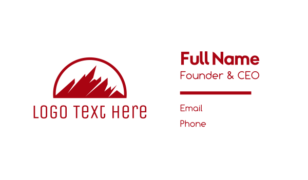 red mountain - Abstract Red Mountain Business card horizontal design