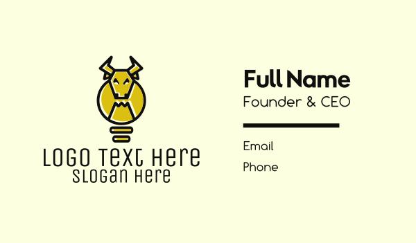 think - Idea Bull Business card horizontal design