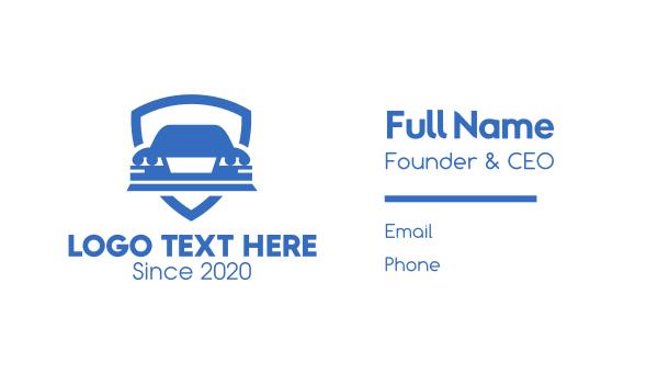 suv - Car Insurance Shield Business card horizontal design