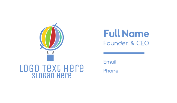 explore - Global Hot Air Balloon Business card horizontal design