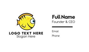 Round Yellow Fish Business Card