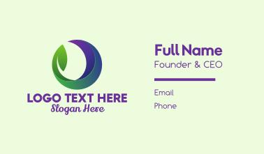 Natural Leaf Eco Circle Business Card