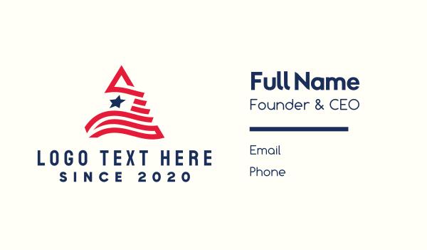 liberia - Patriotic Letter A Business card horizontal design