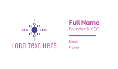 Generic Circle Network Letter Business Card