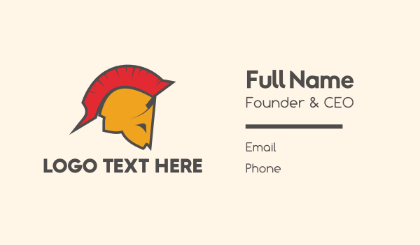 low cost - Spartan Helmet Business card horizontal design