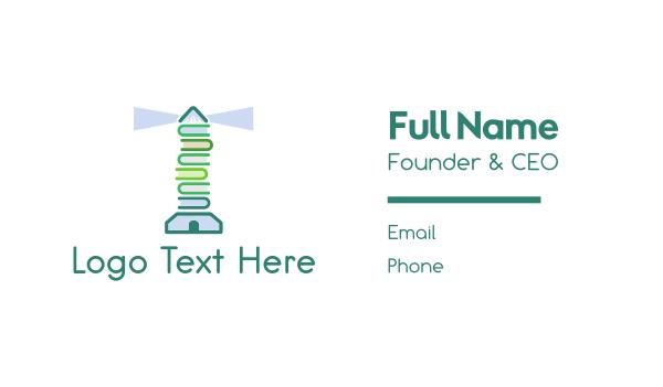 wiki - Book Lighthouse Business card horizontal design