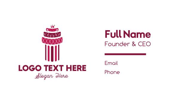 cake shop - Cherry Cake Business card horizontal design