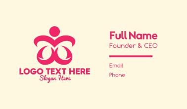 Pink Human Shape Business Card