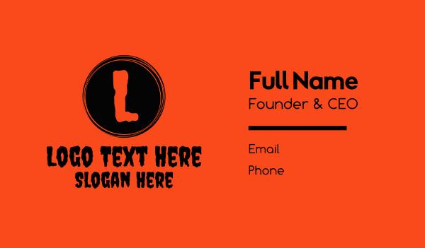 zombie - Haunted Night Lettermark Business card horizontal design