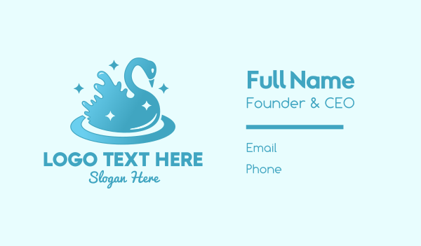 sparkle - Swan Sparkle Splash Business card horizontal design