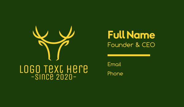antlers - Christmas Deer Head Business card horizontal design