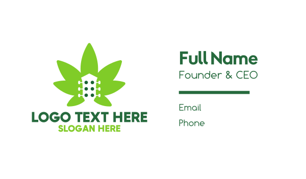 drugs - Cannabis Guitar  Business card horizontal design