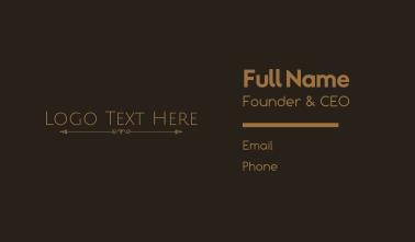 Classical Minimalist Wordmark Business Card