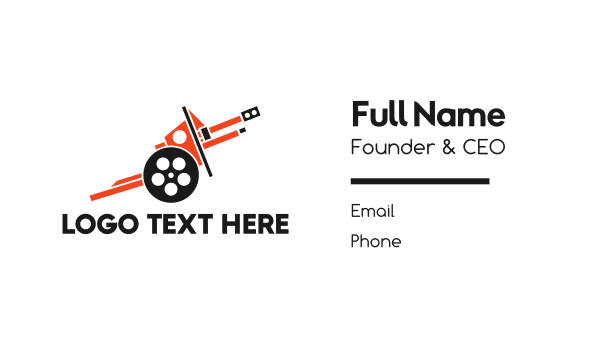 epic - Cannon Reel  Business card horizontal design