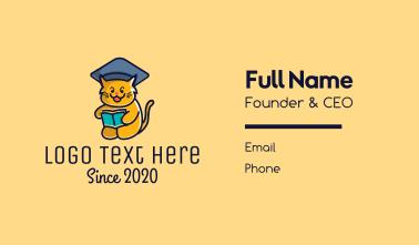 Cat School Training Business Card