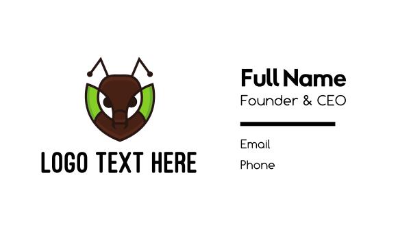 pest - Ant Leaf Business card horizontal design
