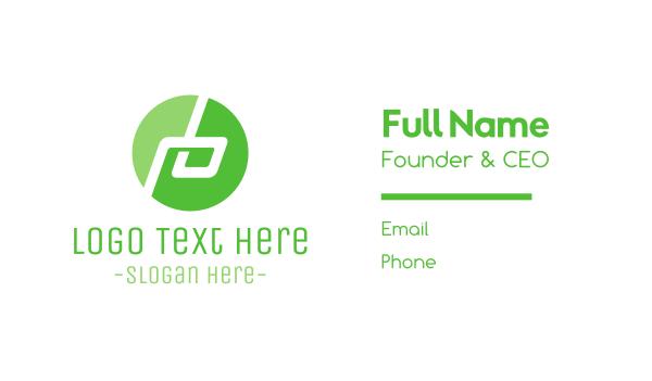 green circle - Tech B Circle Business card horizontal design