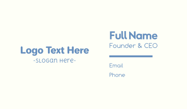 Baby Boy Text Font Business Card
