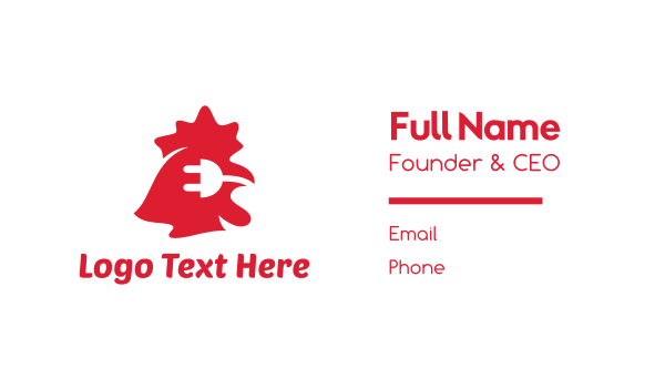 charger - Electric Chicken Business card horizontal design