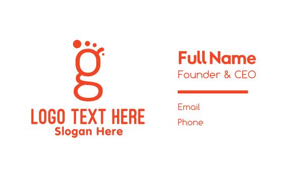 mark - Footprint G Business card horizontal design