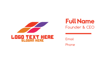 Colorful Abstract Pixel Business Card
