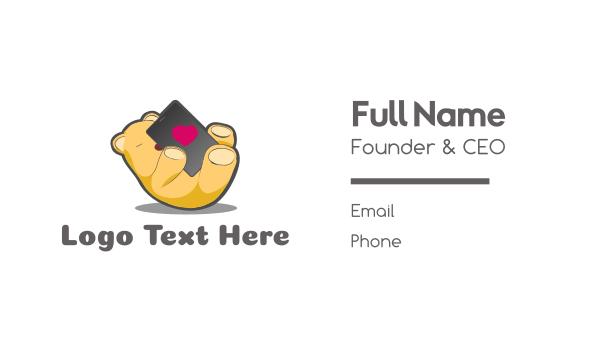 comfort - Bear Phone Love Business card horizontal design
