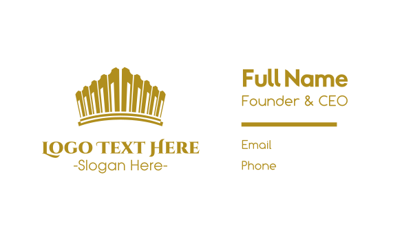 glory - Gold Tiara Business card horizontal design