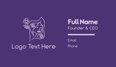 Feminine Flower Flag Business Card